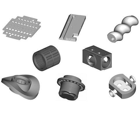 Obróbka CNC | Oferta - Części maszyn i urządzeń: płyty, części obrotowe, krzywki, elementy formujące, korpusy.