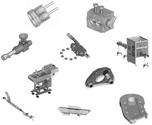 Obróbka CNC | Oferta - Części linii produkcyjnych: rozlewnicze, dozujące, zasypowe, transportujące, pakujące, PCV.